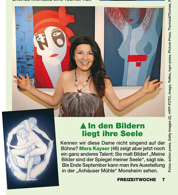 Mara Kayser in der Zeitschrift FREIZEITWOCHE Nr.37 vom 05.09.2012