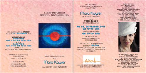 Vernissage im Schloss Edingen - Neckarhausen mit Mara Kayser