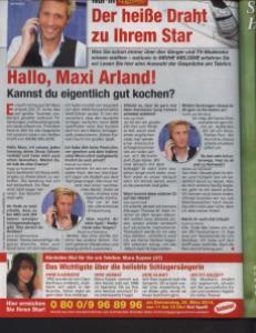 Mara Kayser am Telefon bei MEINE MELODIE
